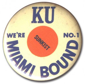orange bowl button 1969