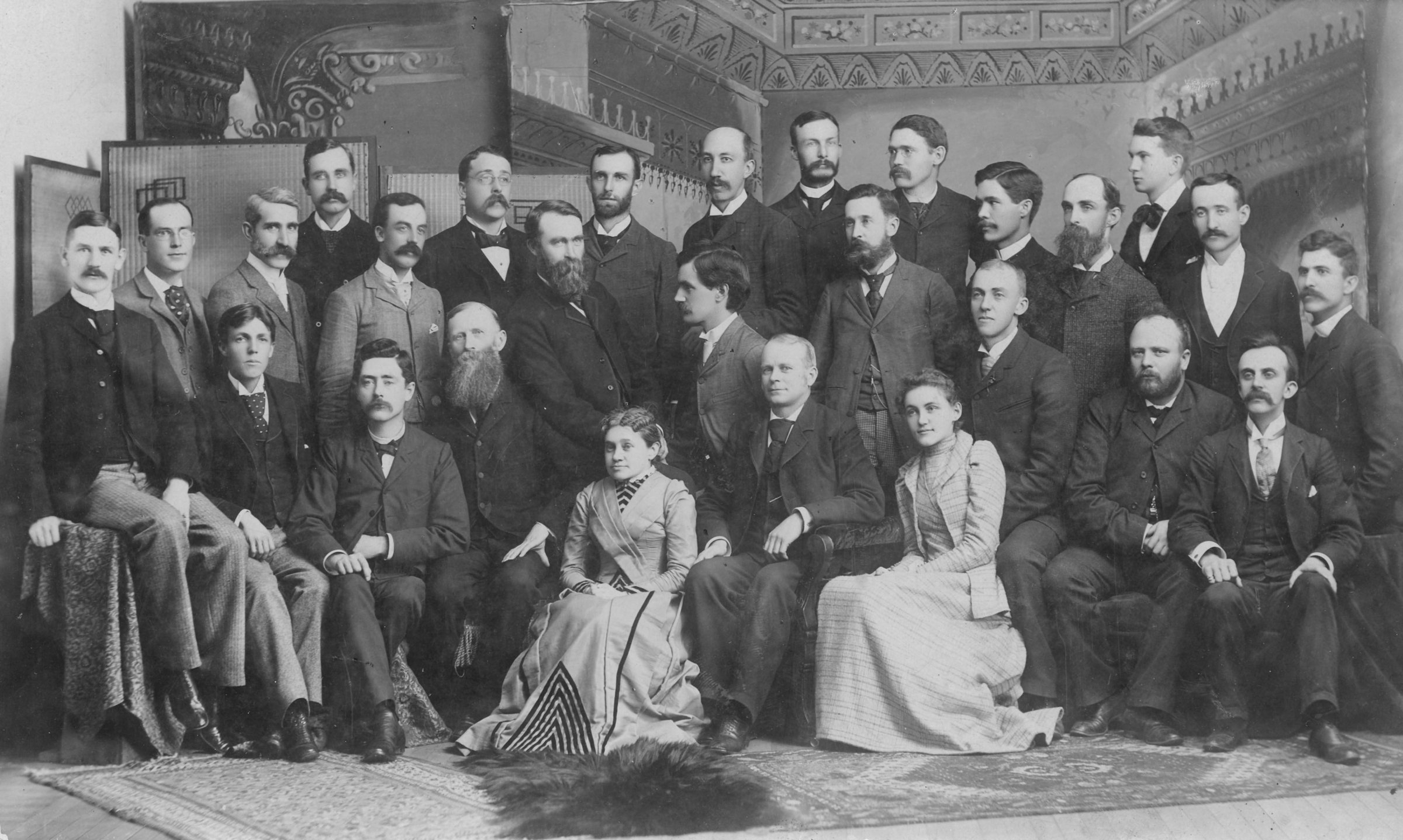 link to image of faculty group portrait, 1890
