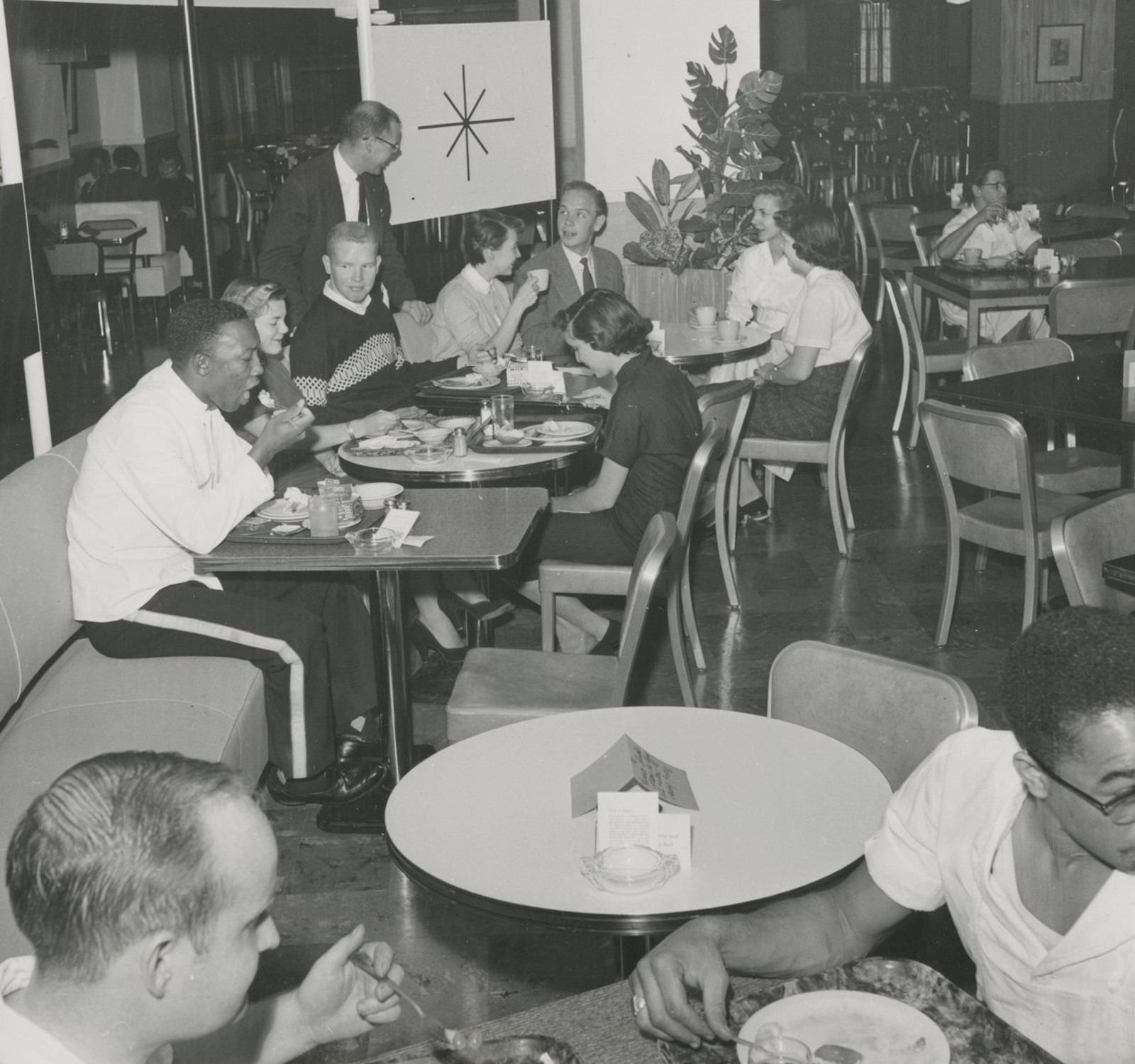 Diners in the Kansas Union cafeteria, 1957